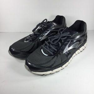 Brooks Beast 16 Black Silver Running Shoes Sz 14 D